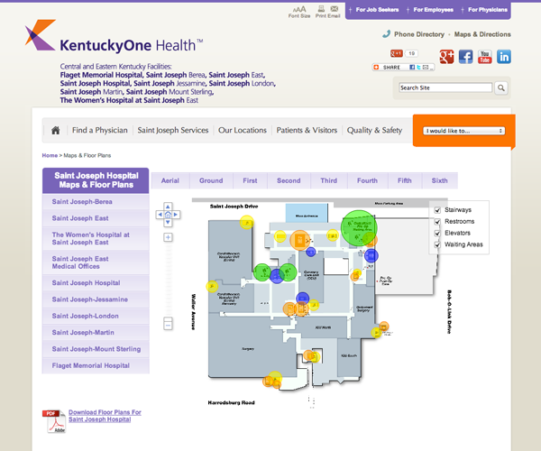 Kentucky Campus Map.Saint Joseph Kentuckyone Campus Maps Hostguardian Com